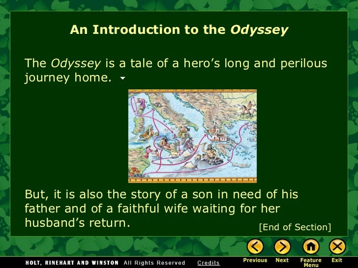 a tale of odysseus long and trying journey home in the odyssey by homer The odyssey: books 7-12 the actual story of odysseus' journey home for those who don't like long videos, the part concerning the odyssey starts around 1.