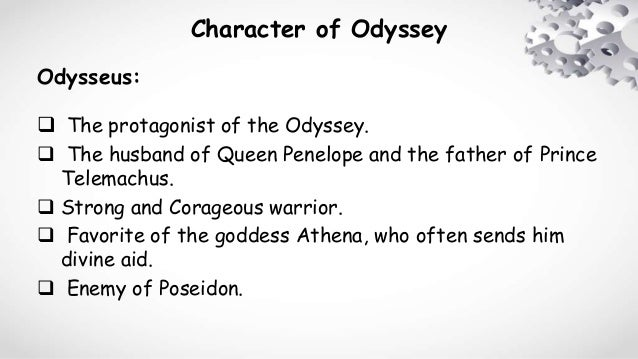 protagonist in the odyssey