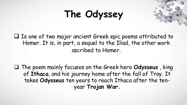 the odyssey paragraph