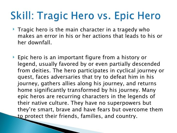 The tragic heroes in epic poetry beowulf and oedipus
