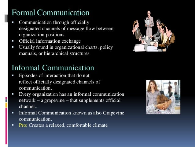 "an informal communication channel rumor mill Formal and informal channels of communication informal communication information shared without any formally imposed obligations or restrictions if an organization's formal communication represents its skeleton, its informal communication constitutes its central nervous system (behavior in organizations, p 307) eng ""grapevine"" an."