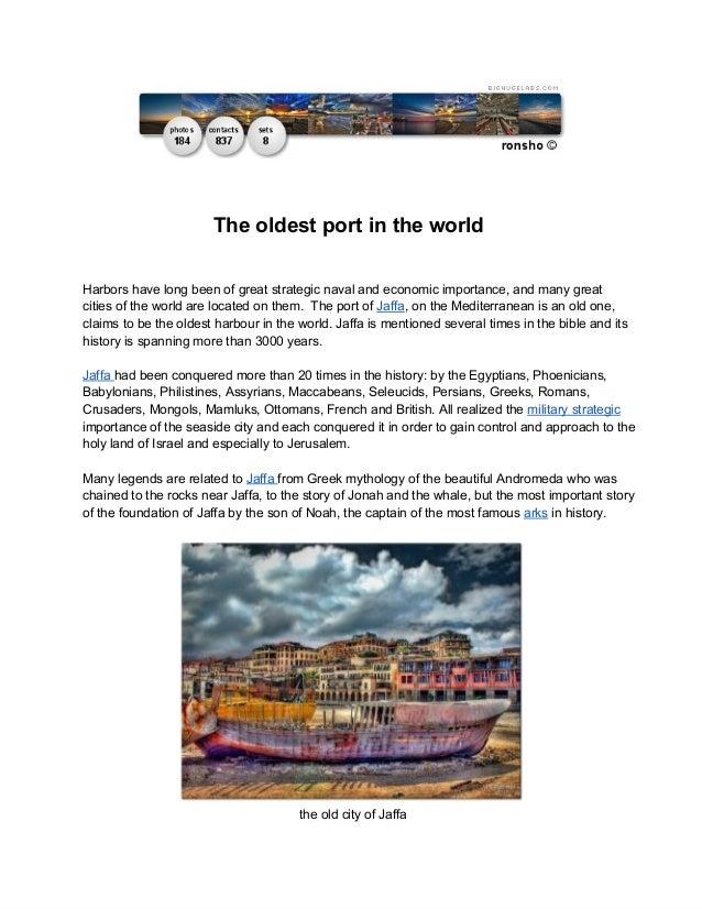 TheoldestportintheworldHarborshavelongbeenofgreatstrategicnavalandeconomicimportance,andmanygreatcities...