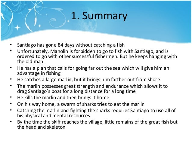 a focus on the character santiago in ernest hemingways novel the old man and the sea Biography of ernest hemingway  the old man and the sea (28  like santiago   but the fact that she is the only actual feminine character in the novel and.