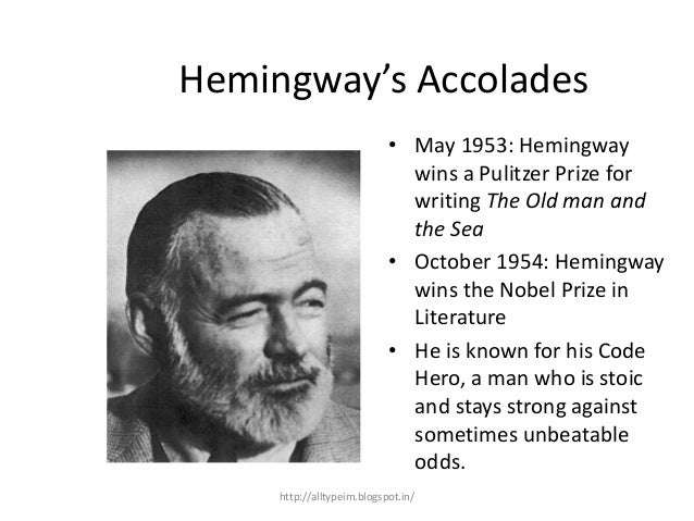 the character of santiago as the typical hemingway code hero Hemingway code essay  ernest hemingway had a specific type of character in each and every  the character of santiago as the typical hemingway code hero.