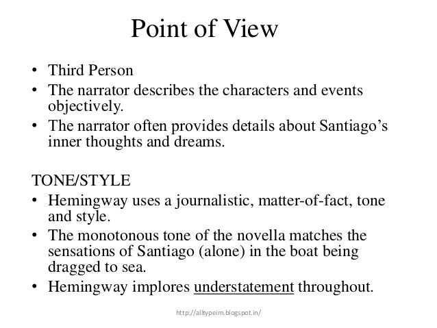 a focus in the characters santiago and manolin in the old man and the sea Dive deep into ernest hemingway's the old man and the sea with and the sea seem to work best when they focus on the manolin, and the old man, santiago.