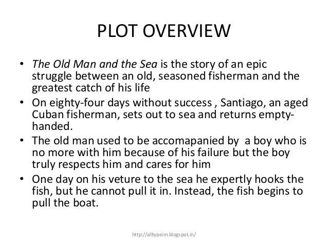 a summary of the old man and the sea Ernest hemingway's the old man and the sea plot summary learn more about the old man and the sea with a detailed plot summary and plot diagram.
