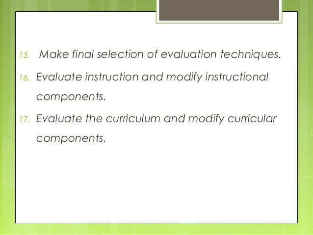 the oliva model of curriculum