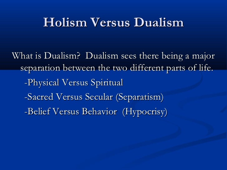 dualism vs physicalism This is known as dualism dualism is the view that the mind and body both exist as separate entities psychology & the mind body debate.