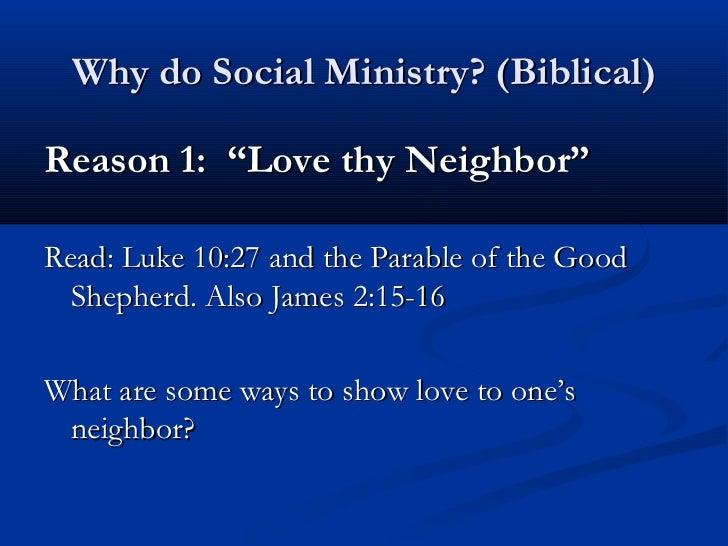 Christian Social Ministry I: Theology Slide 3