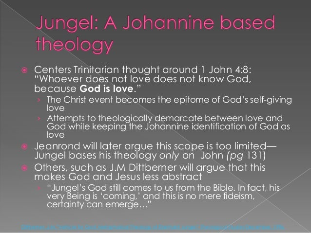 eberhard jungel theological essays Theological essays ii by eberhard jungel (9780567409997) categories books fiction amish novels general historical and biblical.