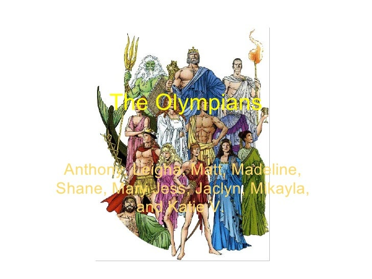 The Olympians Anthony, Leigha, Matt, Madeline, Shane, Mary Jess, Jaclyn, Mikayla, and Katie V.
