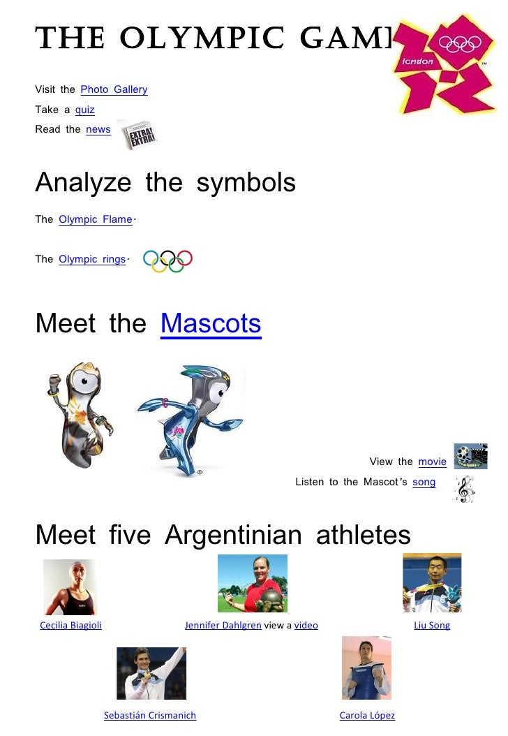 a comparison of the ancient and modern olympic games Course: english grade: grade 6 section: writing outcome: writing a  comparison: ancient and modern olympic games activity type: printable  activity id.