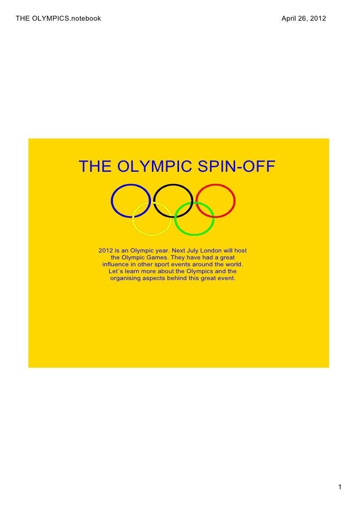 THEOLYMPICS.notebook                                                      April26,2012               THEOLYMPICSPINO...
