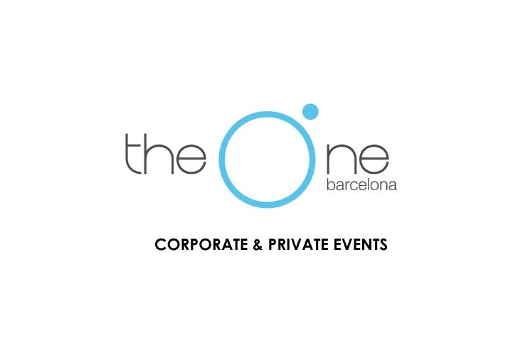 The One Barcelona Events