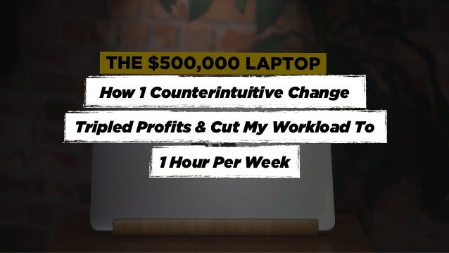 How 1 Counterintuitive Change Tripled Profits & Cut My Workload To 1 Hour Per Week