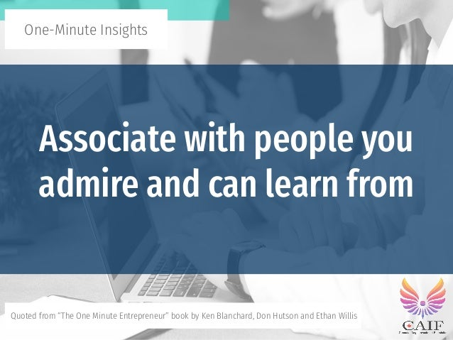 The One Minute Entrepreneur - One-Minute Insights Slide 2