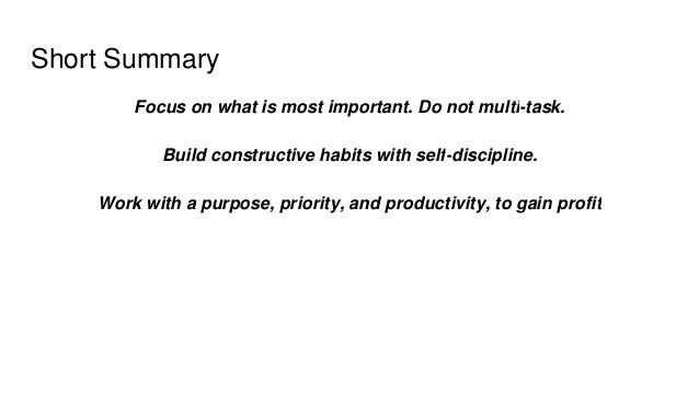 The One thing Book Summary Slide 3