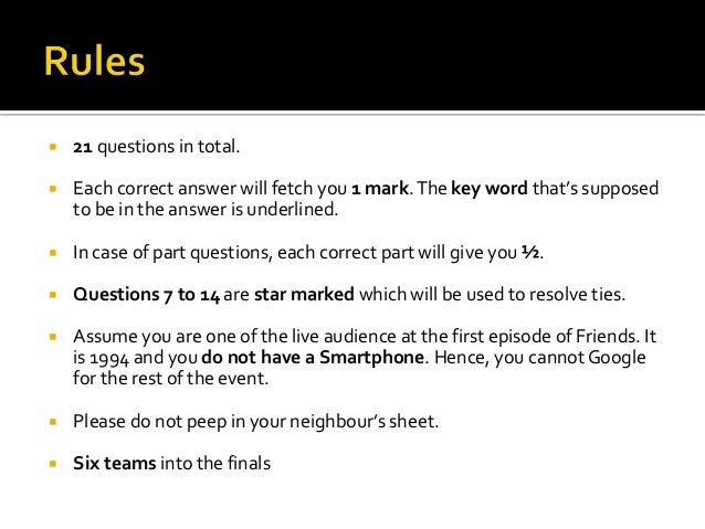 The one with the prelims   answers Slide 3