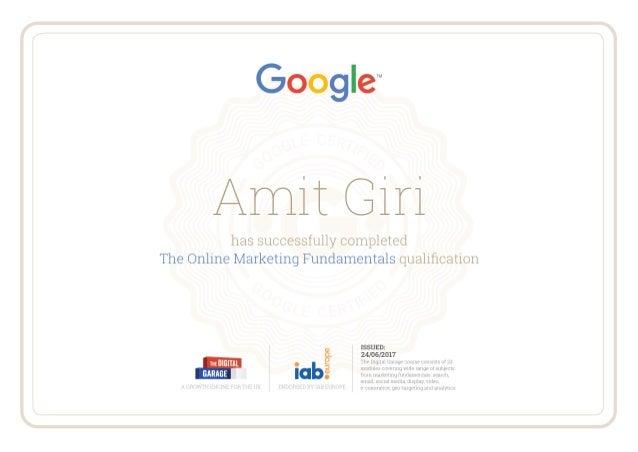 The Online Marketing Fundamentals Certification by Digital ...