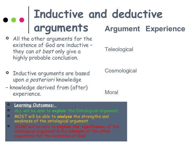 the weaknesses of the ontological argument The ontological argument has been attacked through history (most recently by richard dawkins in the god delusion) in this article tristan stone, head of religious studies and theology at harris westminster academy, defends the ontological argument and assesses its strengths.