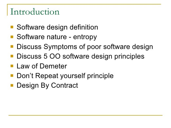The Oo Design Principles