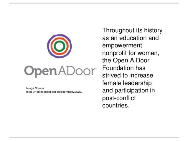 The Open A Door Foundation Transitions to SHE-CAN