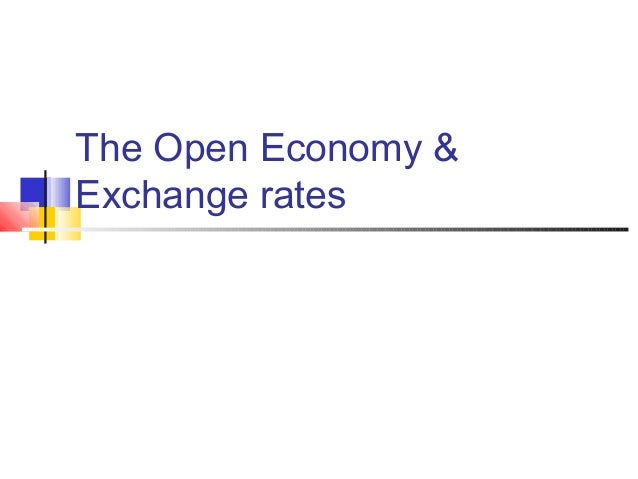 The Open Economy & Exchange rates