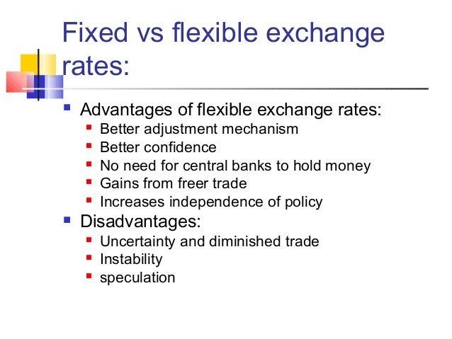 fixed exchange rate and floating exchange rate pdf