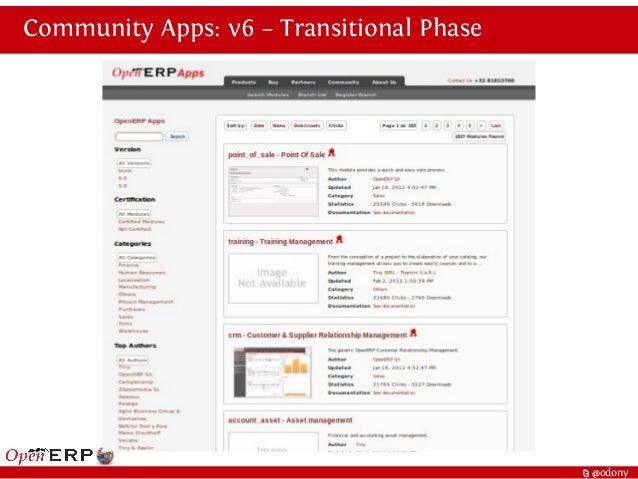 t @odony Community Apps: v6 – Transitional Phase