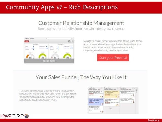 t @odony Community Apps v7 – Rich Descriptions