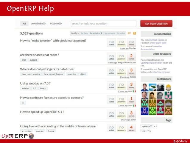 t @odony OpenERP Help