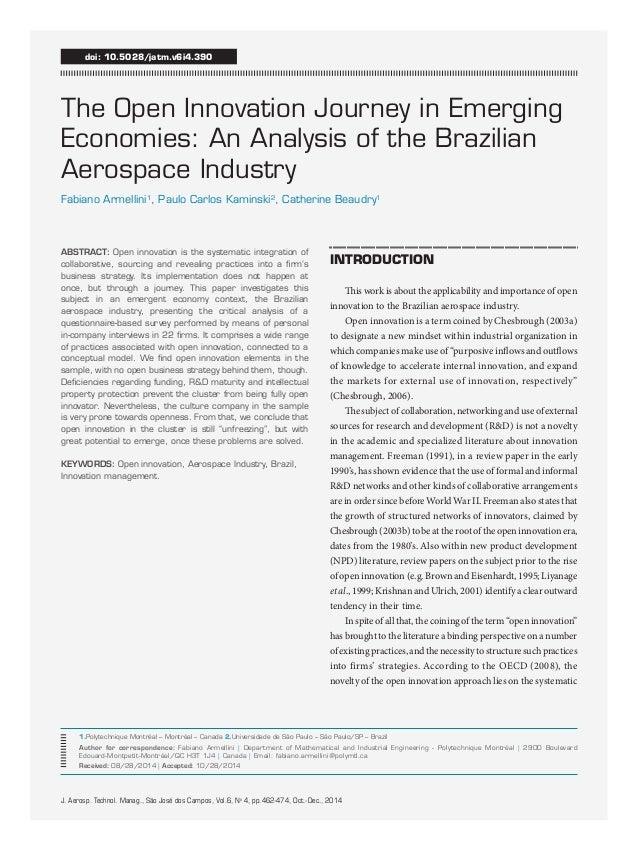 J. Aerosp. Technol. Manag., São José dos Campos, Vol.6, No 4, pp.462-474, Oct.-Dec., 2014  ABSTRACT: Open innovation is th...