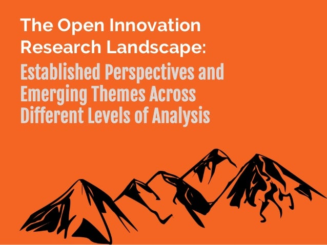 The Open Innovation Research Landscape: Established Perspectives and Emerging Themes Across Different Levels of Analysis