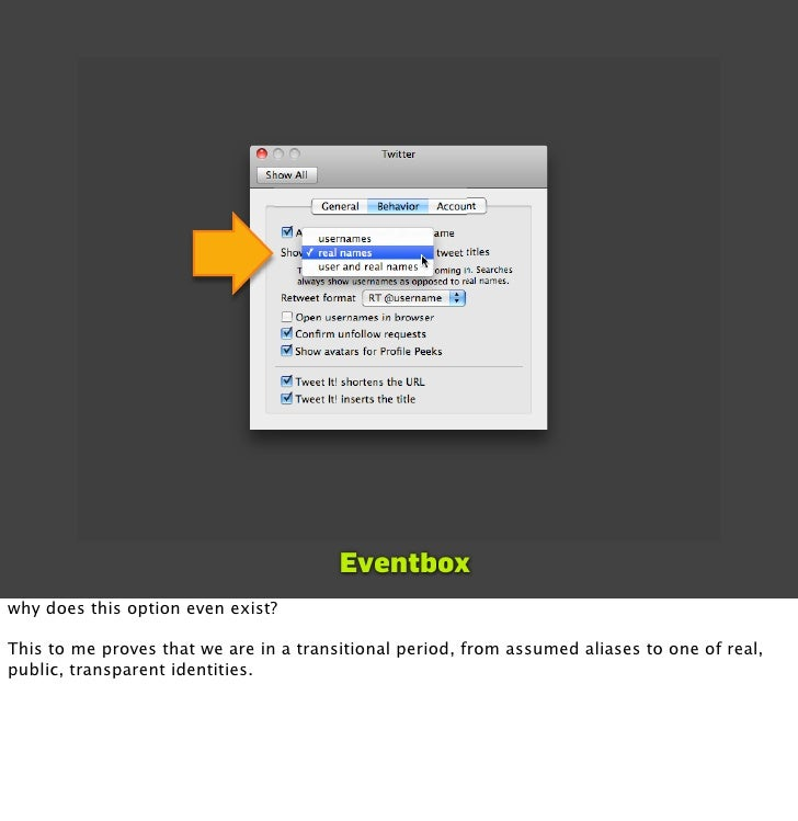 Eventbox why does this option even exist?  This to me proves that we are in a transitional period, from assumed aliases to...