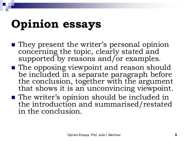 Series of Paragraphs: Expressing an Opinion