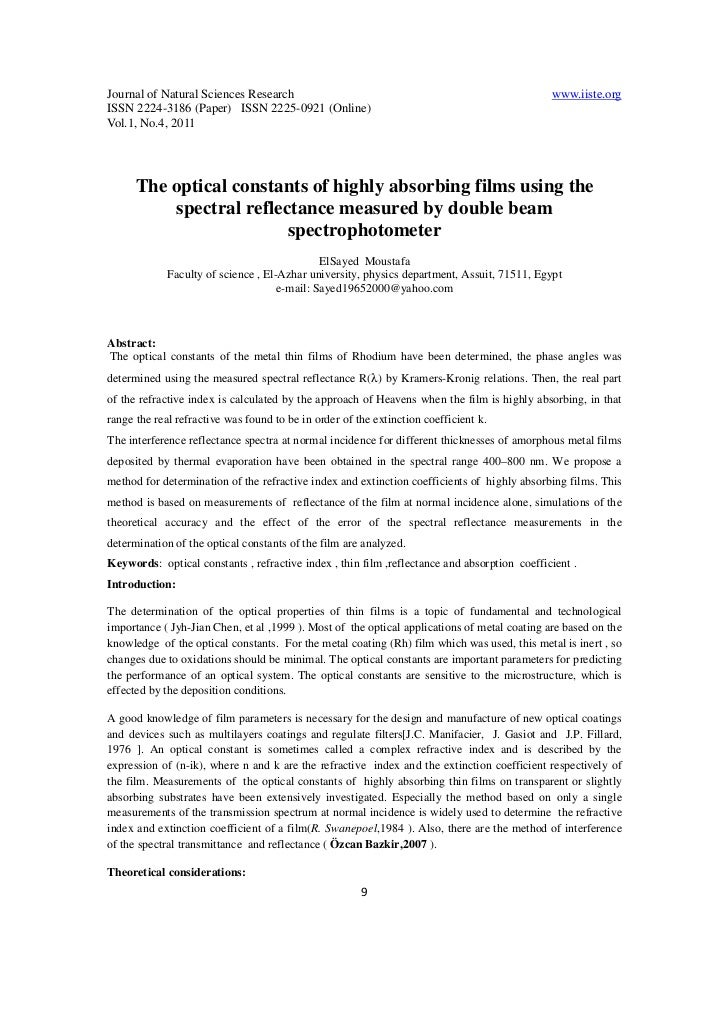 Journal of Natural Sciences Research                                                          www.iiste.orgISSN 2224-3186 ...