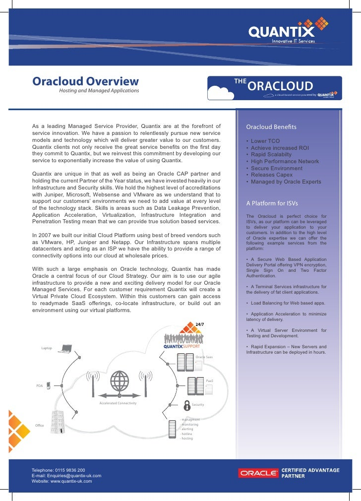 Oracloud Overview                                                                     THE                                 ...
