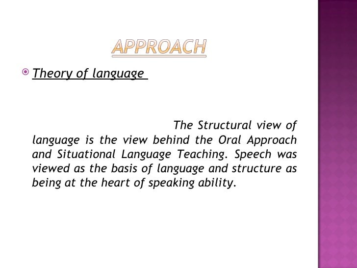 situational language teaching English language teaching methods 3829 words | 16 pages definitionsnet, teaching method is defined as the principles and methods of instruction.