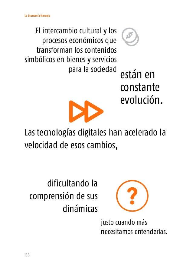 La Economía Naranja 140 La Economía Naranja, como cualquier otro grupo de actividades, se compone de muchos y variados age...