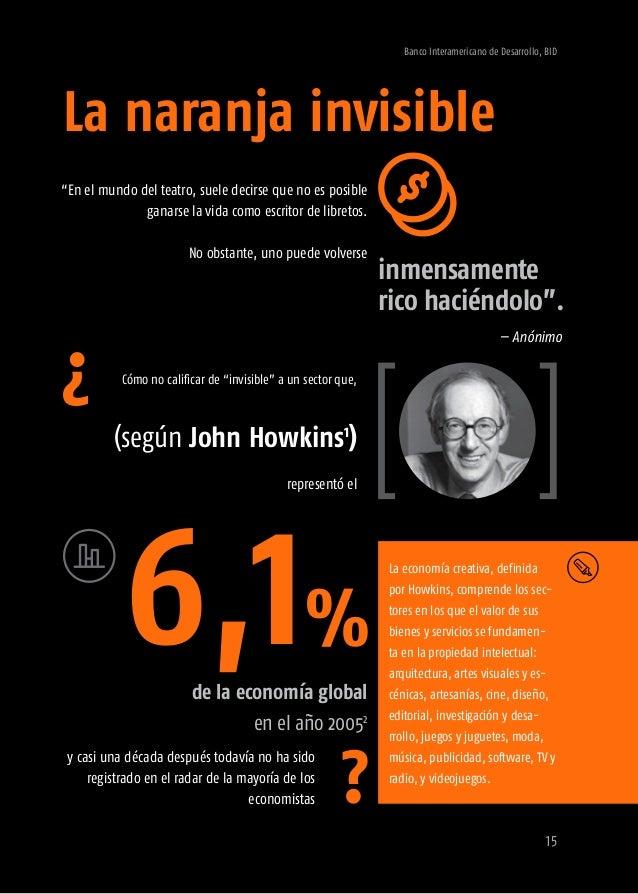 Banco Interamericano de Desarrollo, BID 17 > Bienes creativos -Artes visuales y performativas -Artesanía -Audiovisual -Dis...