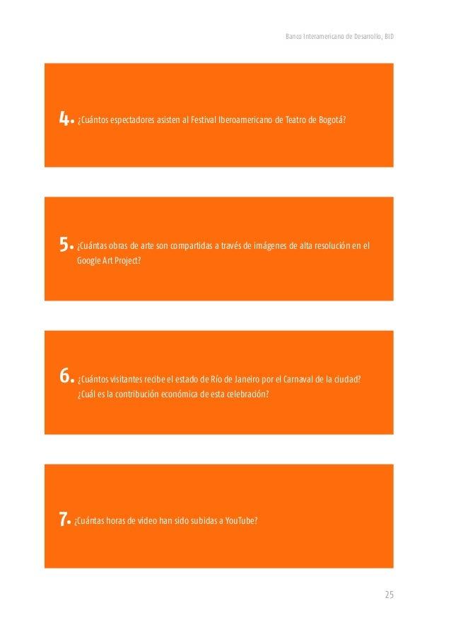 Banco Interamericano de Desarrollo, BID 27 4.Para la edición XII del Festival Iberoamericano de Teatro de Bogotá en el año...