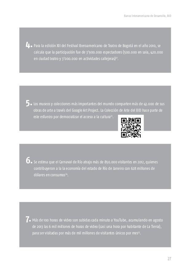 Banco Interamericano de Desarrollo, BID 29 Las razones sobran. (cultura, creatividad y economía Definir la Economía Naranj...