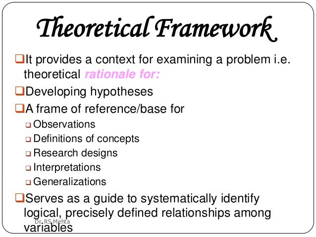 theoretical framework and hypothesis Using theories, hypotheses and frameworks you may wonder what our  obsession with theory is all about this is best explained in a song by george  schultz,.
