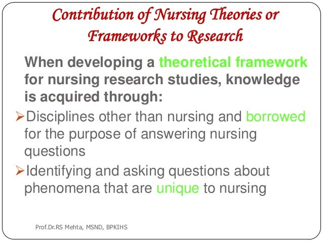 theoretical framework sample for nursing research Annotated sample research proposal: process and product  theoretical framework and hypotheses [what theories about learning guided the directions taken by.