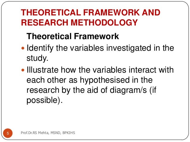 Using Theoretical or Conceptual Frameworks in a Scholarly ...