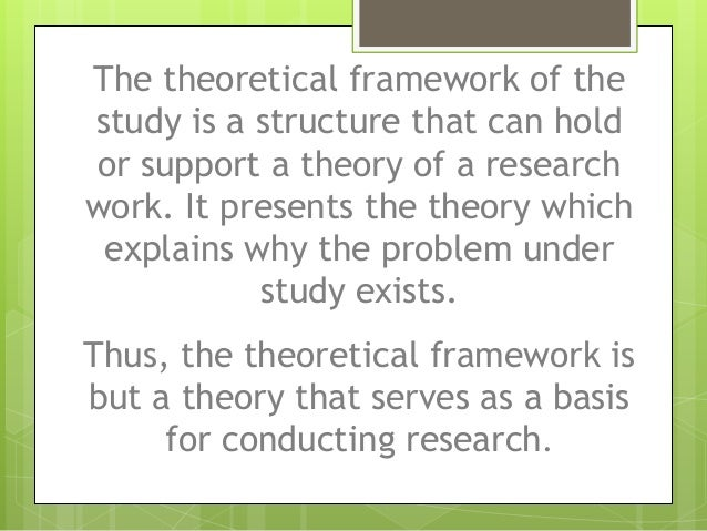 critique of theoretical framework Theoretical framework can you use the results and recommendations in your practice title: framework for how to read and critique a research study author.