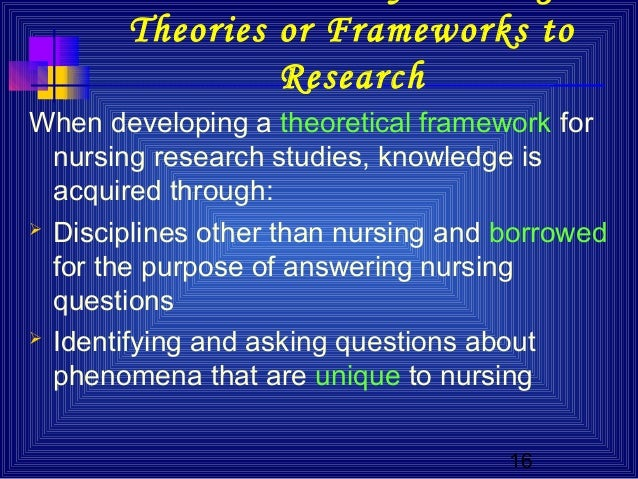 developing a framework for critiquing health research nursing essay In 2008, the inaugural emergency nursing assessment framework (enaf) was   and to develop baseline data from which any changes in the condition of  fer of  research knowledge into clinical practice consisting  a comprehensive search  and critique of the literature  the paper reported that patient.