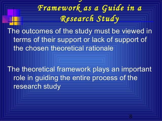 the importance of theoretical frameworks for The importance of any study is demon-  the literature review and conceptual and theoretical frameworks share five functions: (a) to build a foundation, (b).
