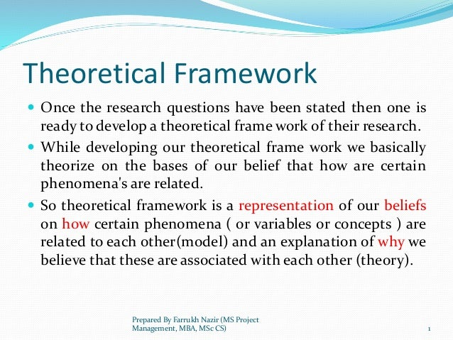 theoretical framework on facebook Share: on twitter on facebook on google+  and there should be a basis (review of literature) that serves as the theoretical framework of your study.