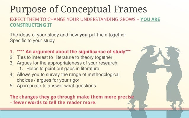 conceptual frameworks essay 2018-1-14 most research reports cast the problem statement within the context of a conceptual or  for example, the conceptual framework and  frameworks.